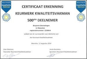 certificaat Keurmerkhouder0001